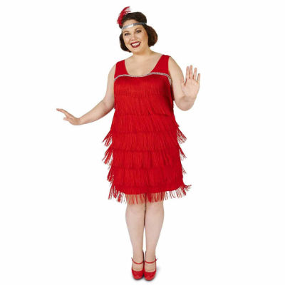 Roarin' Red Flapper Adult Plus Costume 1X