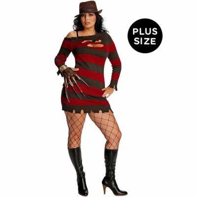 A Nightmare On Elm Street - Miss Krueger Adult Plus Costume - One-Size (Plus)