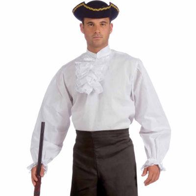 Ruffled White Shirt Adult