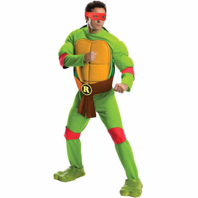 Teenage Mutant Ninja Turtles Deluxe Raphael AdultCostume - One Size Fits Most