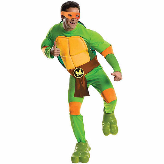 Teenage Mutant Ninja Turtles Deluxe Michelangelo Adult Costume - One Size Fits Most