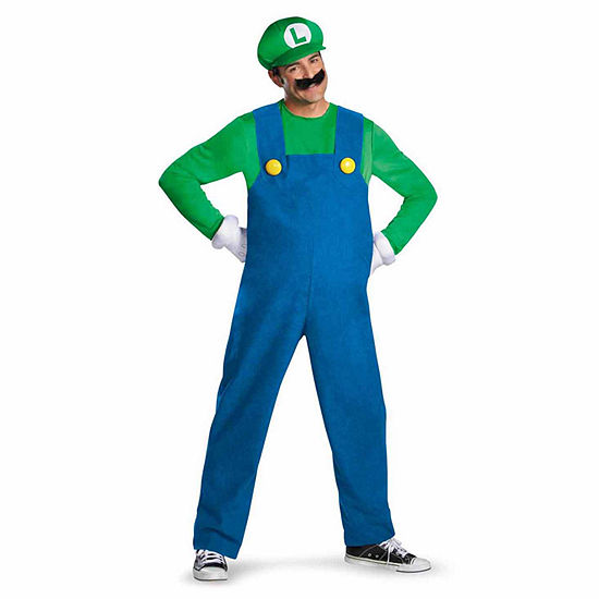 Super Mario Brothers Luigi Adult Costume X Large 42 46