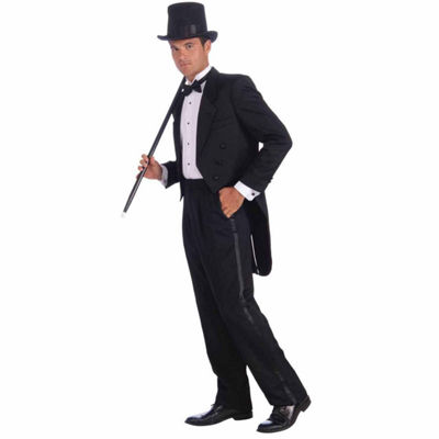 Vintage Hollywood Man's Tuxedo Adult Costume - One Size Fits Most