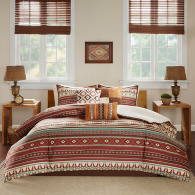 Madison park davy 7 pc comforter set jcpenney for Baltic linen maison 8 pc comforter set