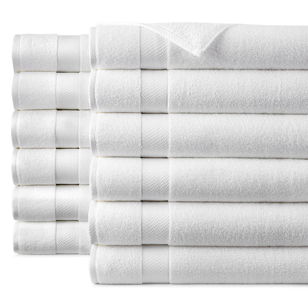 JCPenney Home™ Commercial Set of 12 Bath Towels - JCPenney