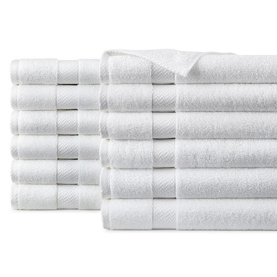 JCPenney Home™ Commercial Set of 12 Hand Towels