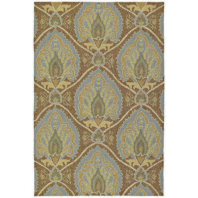 Kaleen Home And Porch Damask Hand Tufted Rectangular Rugs