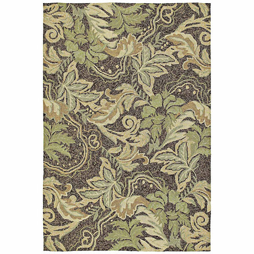 Kaleen Home And Porch Botanical Hand Tufted Rectangular Rugs