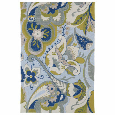 Kaleen Home And Porch Mod Floral Hand Tufted Rectangular Rugs