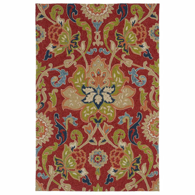 Kaleen Home And Porch Jacobean Hand Tufted Rectangular Indoor/Outdoor Accent Rug