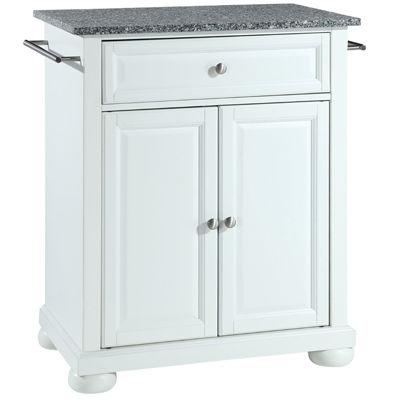 Caldwell Small Granite-Top Portable Kitchen Island