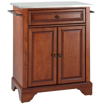Chatham Small Stainless-Steel-Top Portable Kitchen Island