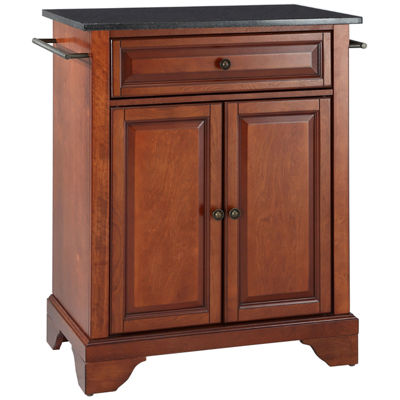 Chatham Small Black-Granite-Top Portable Kitchen Island