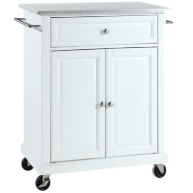 Wellman Stainless-Steel-Top Portable Kitchen Cart