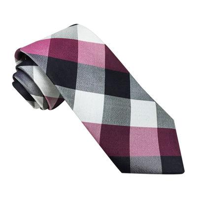 Stafford® Buffalo Plaid II Silk Tie - Slim