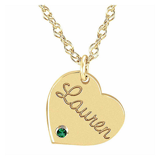 b7581de60a9a7d Personalized Birthstone Name Heart Pendant Necklace - JCPenney
