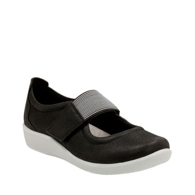 Clarks Womens Sillian Cala Slip-On Shoes Elastic Closed Toe