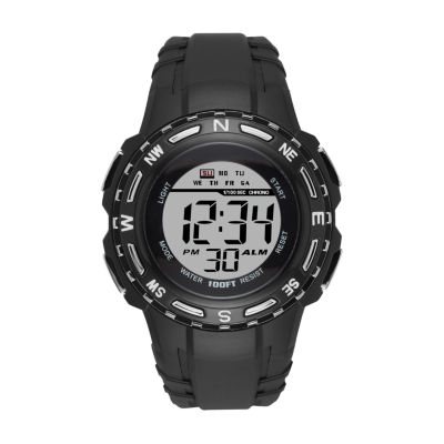 Mens Black Strap Watch-Fmdjo101