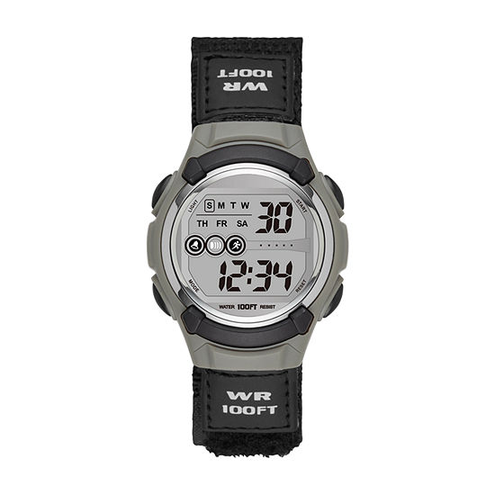 Womens Digital Black Strap Watch-Fmdjo103