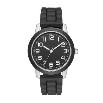 Womens Black Strap Watch-Fmdjo107