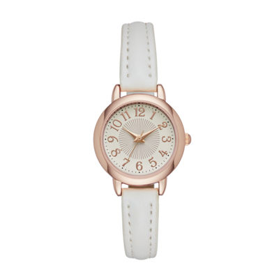 Womens White Strap Watch-Fmdjo109