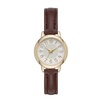 Womens Brown Strap Watch-Fmdjo110