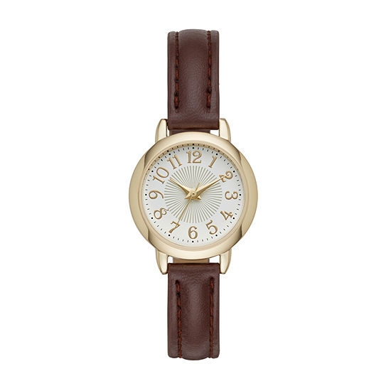 Womens Brown Strap Watch-Fmdjo110