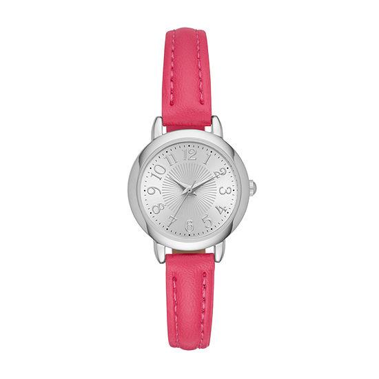 Womens Pink Strap Watch-Fmdjo112