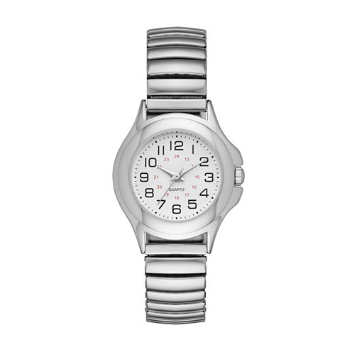 Womens Silver Tone Expansion Watch-Fmdjo118
