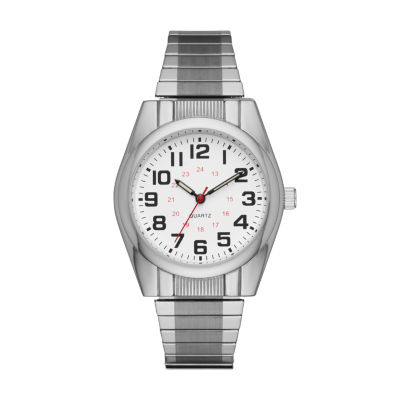 Mens Silver Tone Expansion Watch-Fmdjo119