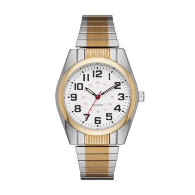 Mens Two Tone Expansion Watch-Fmdjo120