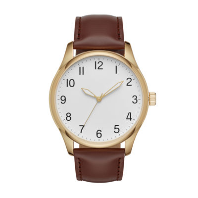 Mens Brown Strap Watch-Fmdjo122