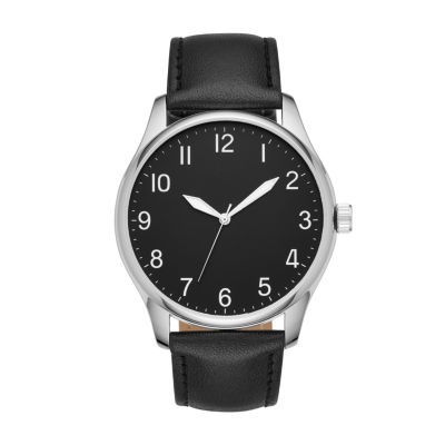 Mens Black Strap Watch-Fmdjo123