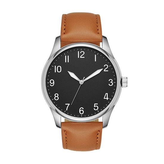Mens Brown Strap Watch-Fmdjo124
