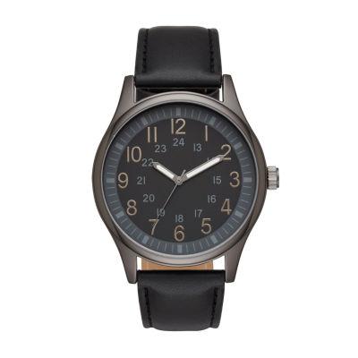 Mens Black Strap Watch-Fmdjo125