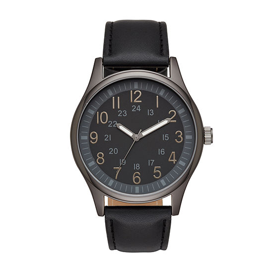 Mens Black Strap Watch Fmdjo125