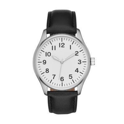 Mens Black Strap Watch-Fmdjo126