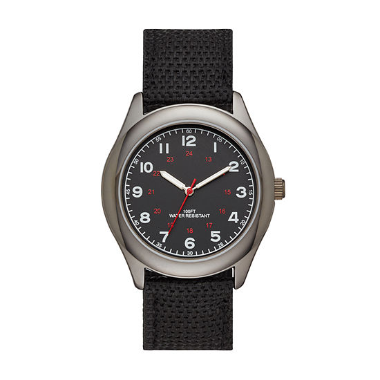 Mens Black Strap Watch-Fmdjo127