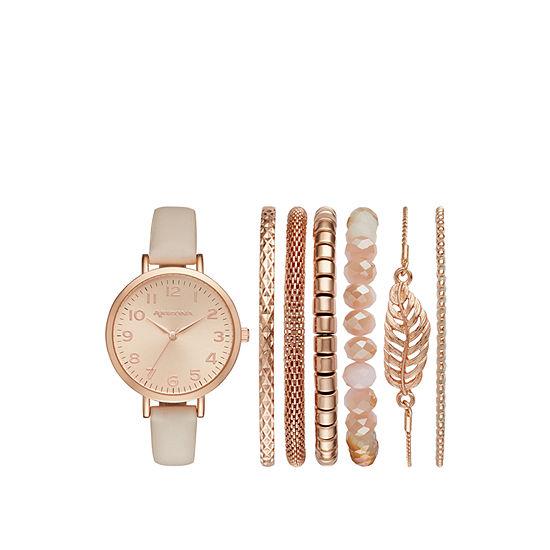Arizona Womens Pink Watch Boxed Set-Fmdarz160