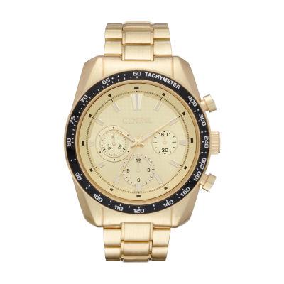 Geneva Mens Gold Tone Bracelet Watch-Fmdjm576