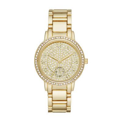 Geneva Womens Gold Tone Bracelet Watch-Fmdjm183