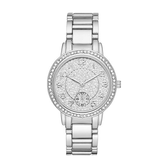 Geneva Womens Silver Tone Bracelet Watch-Fmdjm184