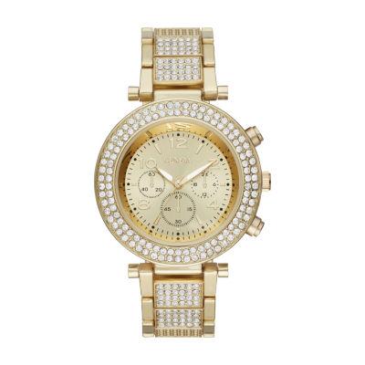 Geneva Womens Gold Tone Bracelet Watch-Fmdjm186