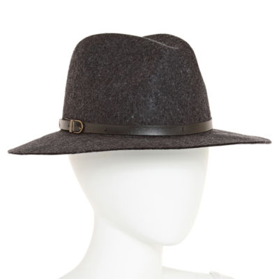 Scala Leather Buckle Wool Panama Hat