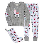 PJ Couture Cuddly Critters 3pc Pant Pajama Set
