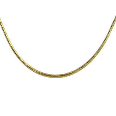 18K Gold Over Silver 20 Inch Chain Necklace