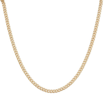 18K Gold Over Silver 18 Inch Chain Necklace