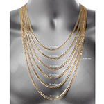 18K Gold Over Silver 16 Inch Chain Necklace