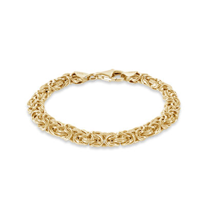 Womens 7 1/2 Inch 18K Gold Over Silver Chain Bracelet