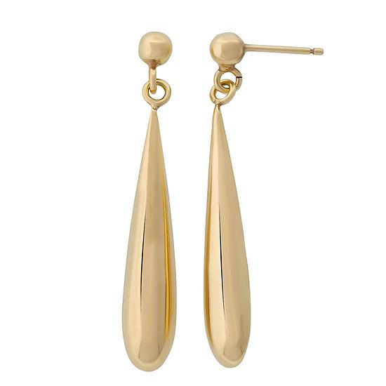 18k Gold Over Silver 39.9 mm Drop Earrings